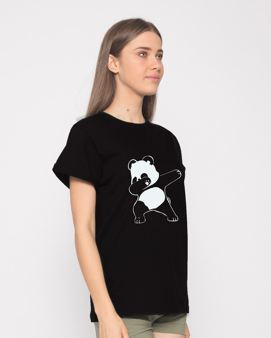Shop Dabbing Panda Boyfriend T-Shirt-Back