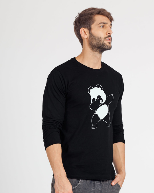 Shop Dabbing Panda Full Sleeve T-Shirt-Back