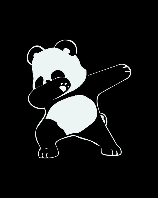 Shop Dabbing Panda Round Neck 3/4th Sleeve T-Shirt