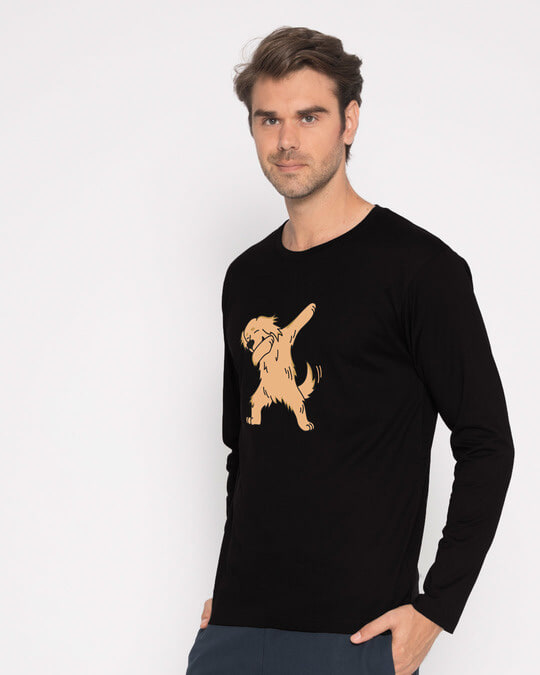 Shop Dabbing Retriever Full Sleeve T-Shirt-Back
