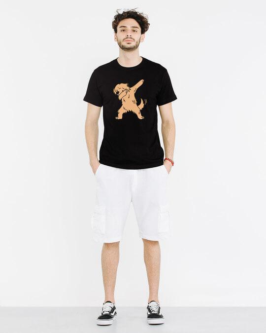 Shop Dabbing Retriever Half Sleeve T-Shirt