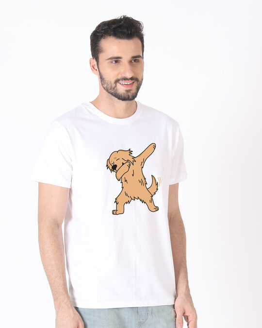 Shop Dabbing Retriever Half Sleeve T-Shirt-Design