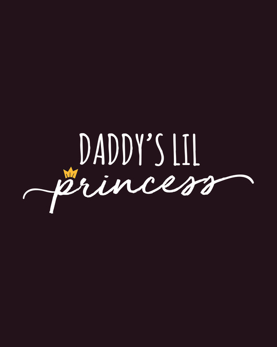 Shop Daddy's Lil Princess Boat Neck 3/4th Sleeve T-Shirt Dress