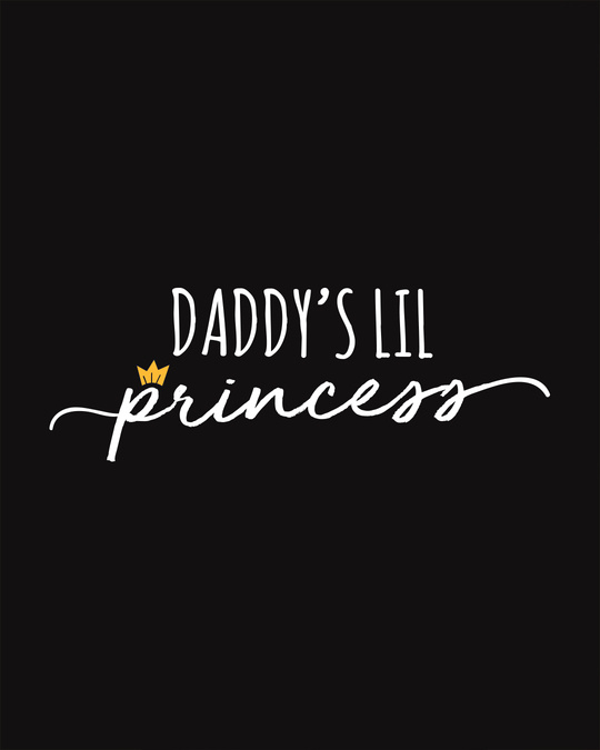 Shop Daddy's Lil Princess Scoop Neck Full Sleeve T-Shirt-Full