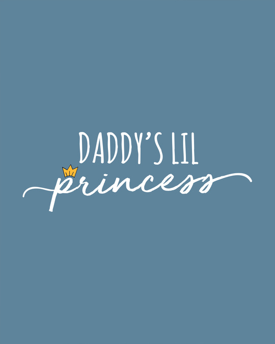 Shop Daddy's Lil Princess Scoop Neck Full Sleeve T-Shirt