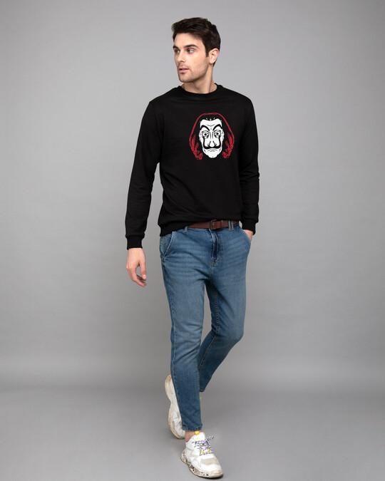 Shop Dali Mask Fleece Light Sweatshirts-Full