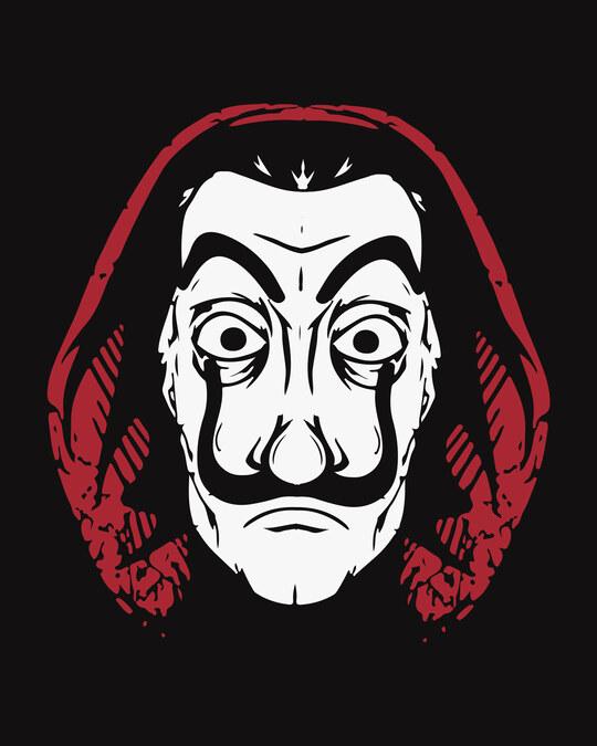 Shop Dali Mask Half Sleeve T-Shirt