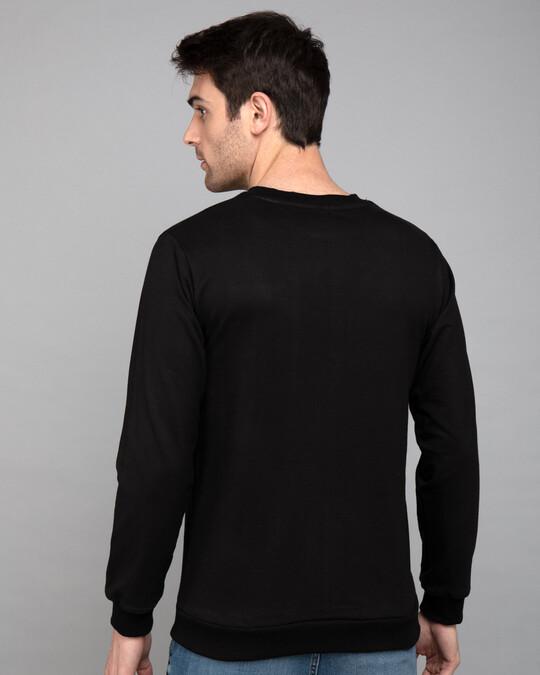 Shop Dali Profile Glow In Dark Fleece Light Sweatshirts-Back
