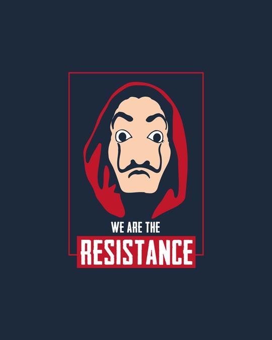 Shop Dali Resistance Half Sleeve T-Shirt Navy Blue-Full