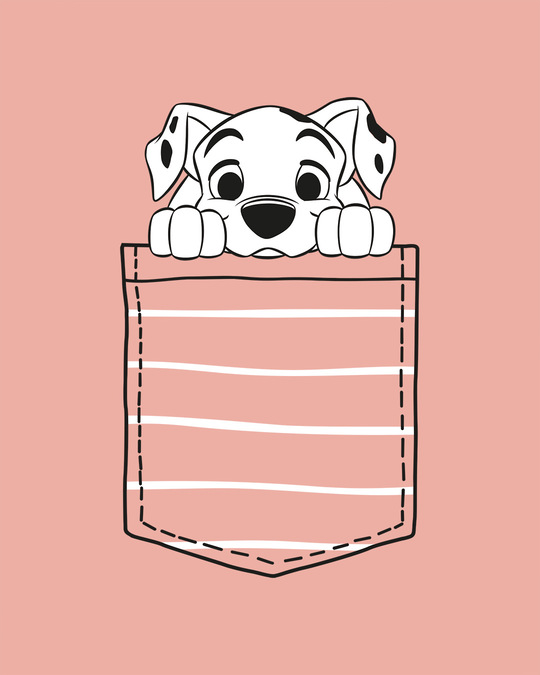 Shop Dalmatian Pocket Boyfriend T-Shirts Misty Pink (DL)-Full