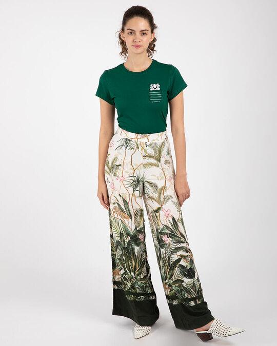 Shop Dalmatian Pocket Half Sleeve Printed T-Shirt Dark Forest Green (DL)-Design