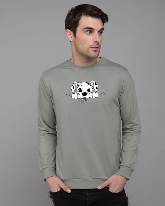 Shop Dalmatian Puppy Fleece Light Sweatshirt (DL)-Front