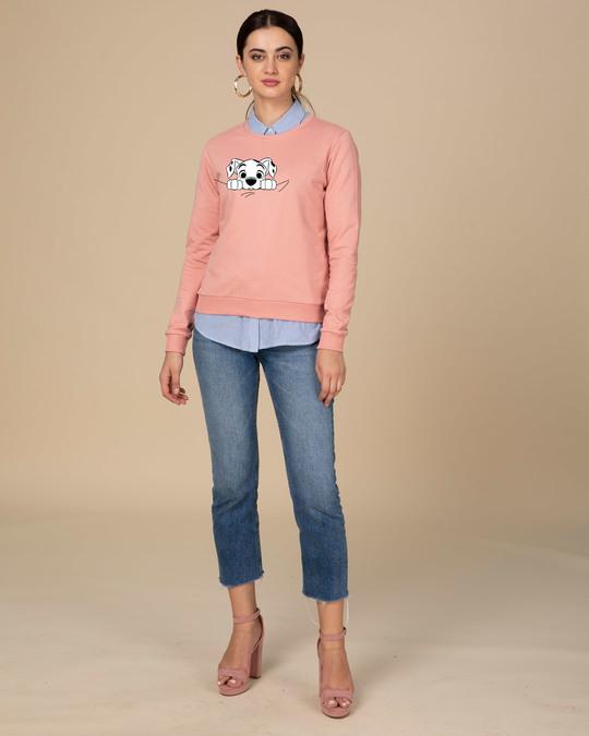 Shop Dalmatian Puppy Fleece Light Sweatshirt (DL)-Full