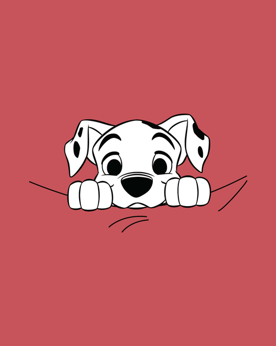 Shop Dalmatian Puppy Half Sleeve T-Shirt (DL)-Full