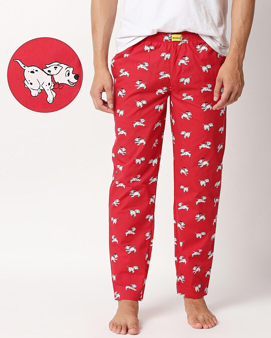 Shop Dalmations Play All Over Printed Pyjama (DL)-Front