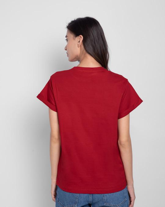 Shop Dance Diva Boyfriend T-Shirt Bold Red-Full