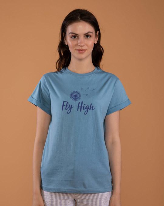 Shop Dandelion Fly High Boyfriend T-Shirt-Front