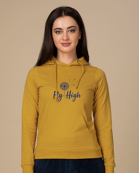 Shop Dandelion Fly High Fleece Hoodies-Front