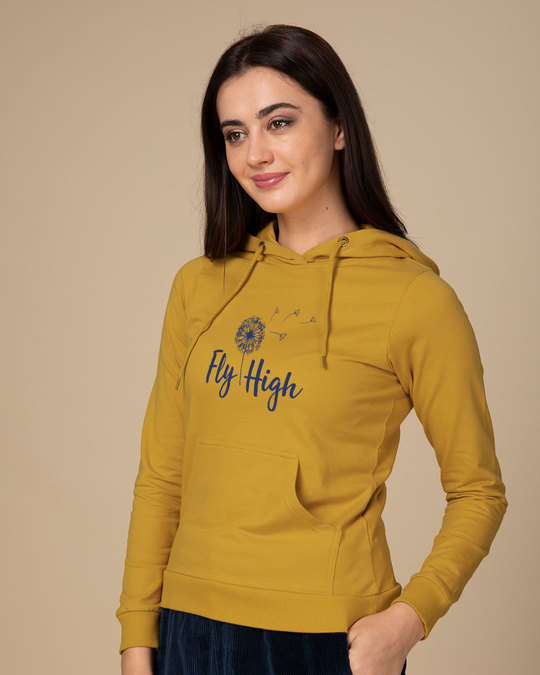 Shop Dandelion Fly High Fleece Hoodies-Back