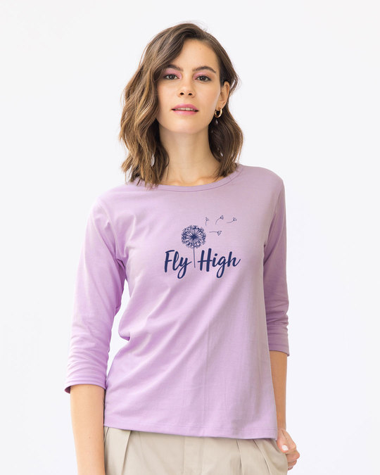 Shop Dandelion Fly High Round Neck 3/4th Sleeve T-Shirt-Front