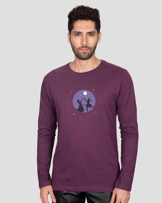 Shop Dandiya Night Full Sleeve T-Shirt Deep Purple-Back