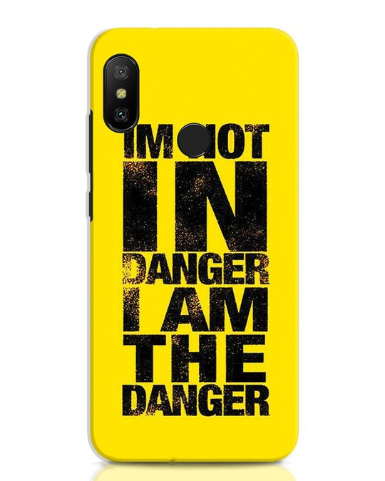 Shop Danger Xiaomi Redmi Note 6 Pro Mobile Cover-Front