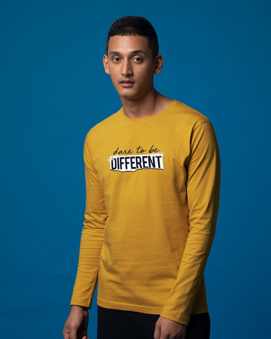 Shop Dare To Be Different Full Sleeve T-Shirt-Back