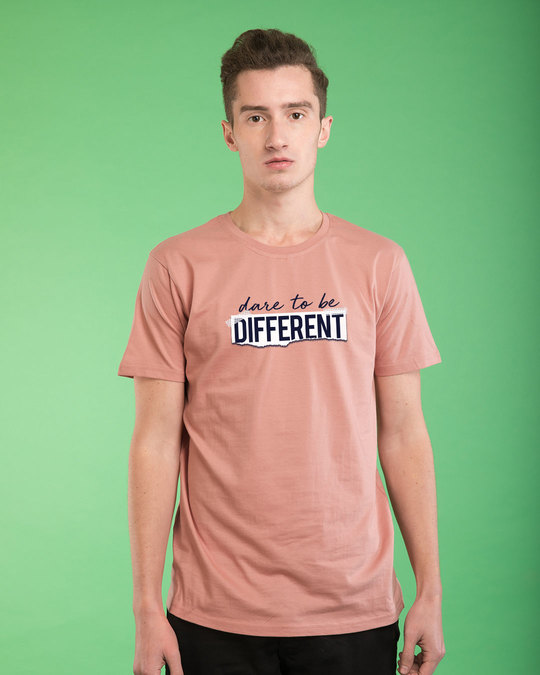 Shop Dare To Be Different Half Sleeve T-Shirt-Back