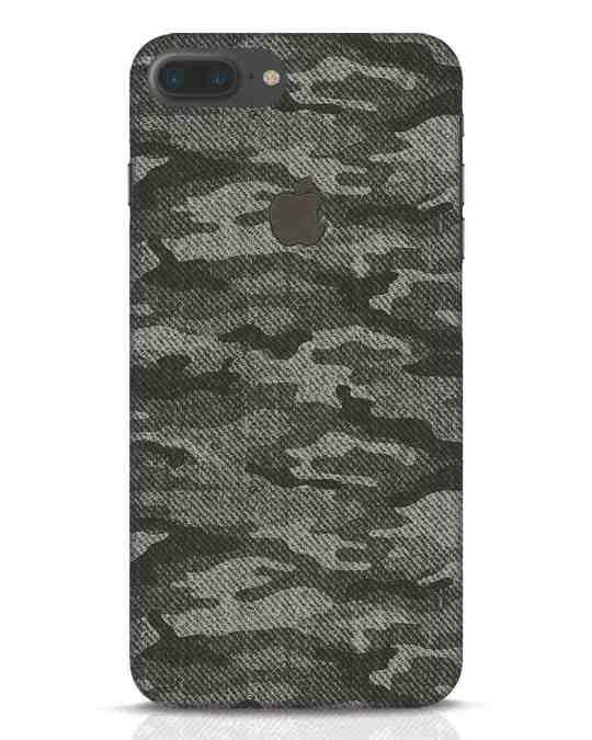 Shop Dark Camo iPhone 7 Plus Logo Cut Mobile Cover-Front