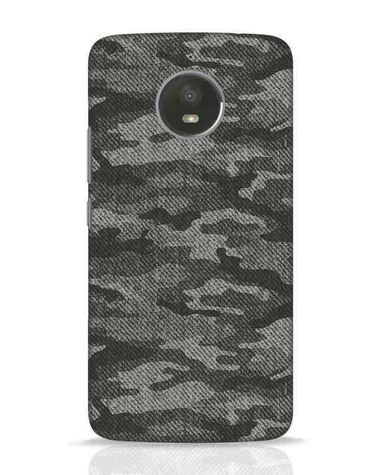 Shop Dark Camo Moto E4 Plus Mobile Cover-Front