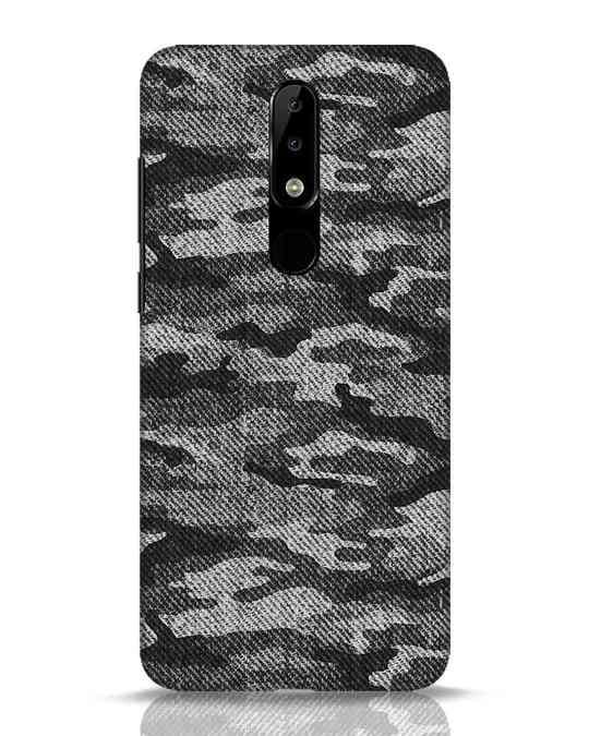 Shop Dark Camo Nokia 5.1 Plus Mobile Cover-Front