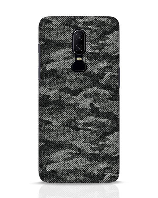 Shop Dark Camo OnePlus 6 Mobile Cover-Front