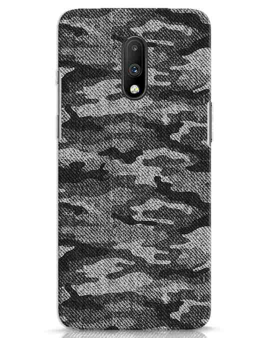 Shop Dark Camo OnePlus 7 Mobile Cover-Front