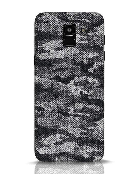 Shop Dark Camo Samsung Galaxy J6 Mobile Cover-Front