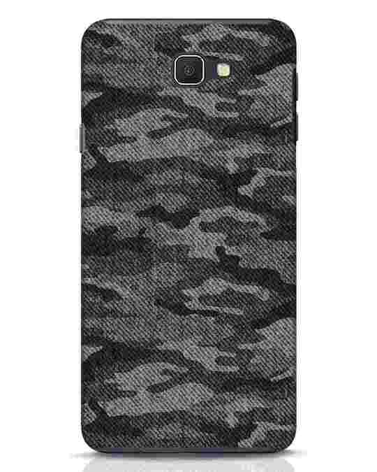 Shop Dark Camo Samsung Galaxy J7 Prime Mobile Cover-Front