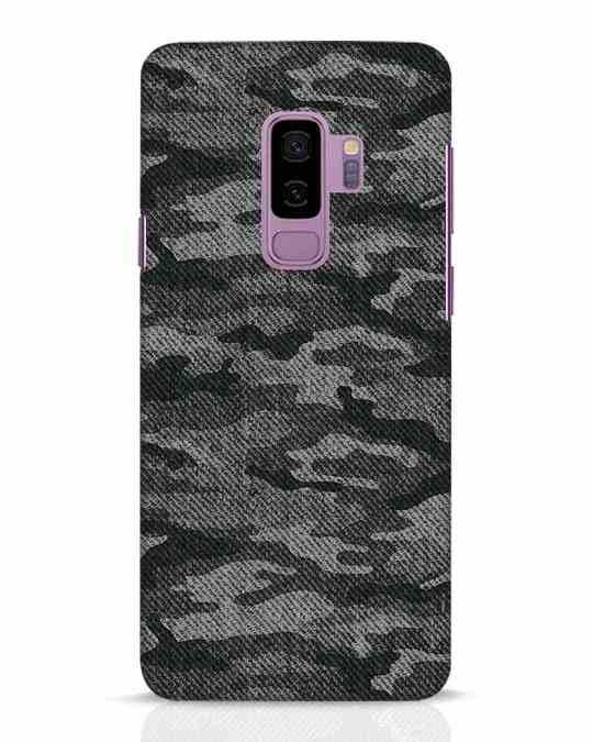 Shop Dark Camo Samsung Galaxy S9 Plus Mobile Cover-Front