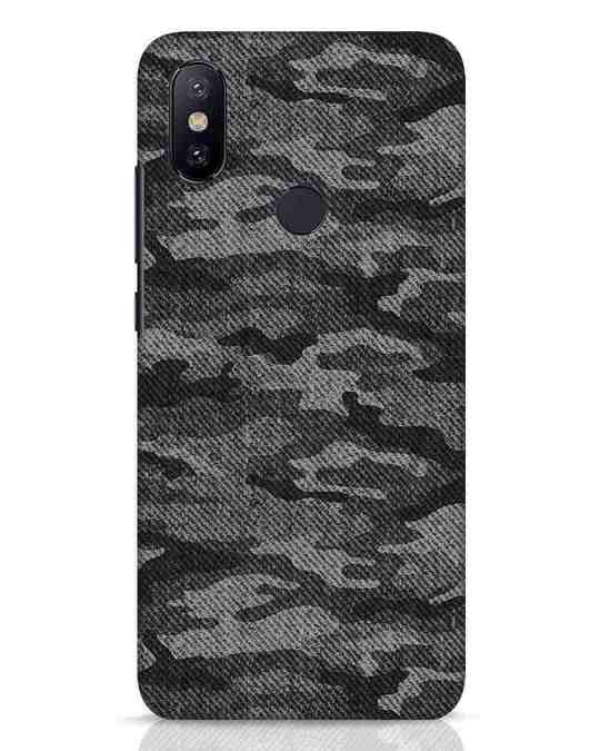 Shop Dark Camo Xiaomi Mi A2 Mobile Cover-Front