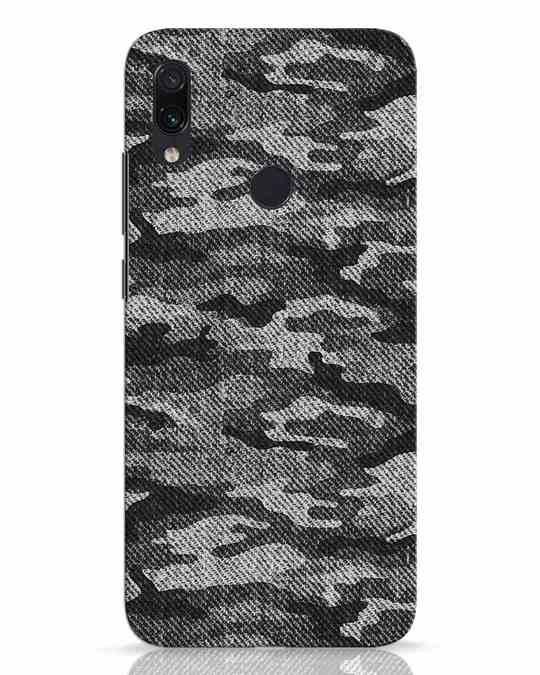 Shop Dark Camo Xiaomi Redmi Note 7 Pro Mobile Cover-Front