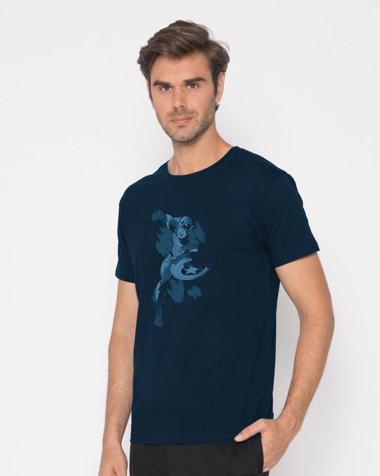 Shop Dark Captain America Half Sleeve T-Shirt (AVL)-Design