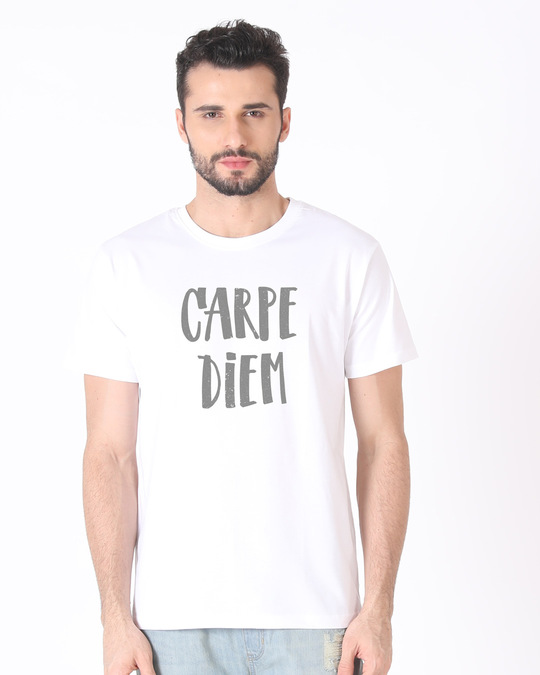 Shop Dark Carpe Diem Half Sleeve T-Shirt-Back