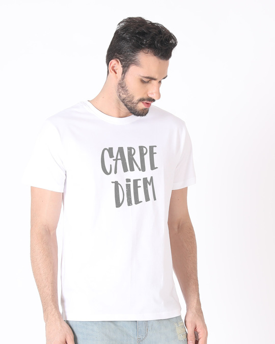Shop Dark Carpe Diem Half Sleeve T-Shirt-Design