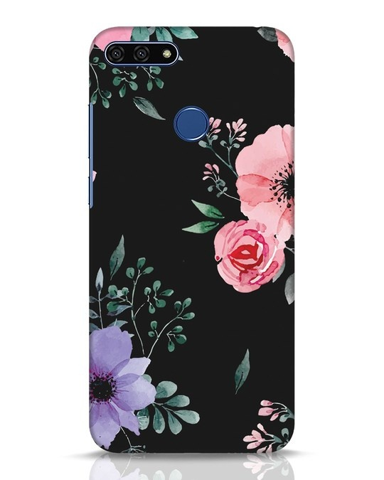 Shop Dark Florals Huawei Honor 7A Mobile Cover-Front