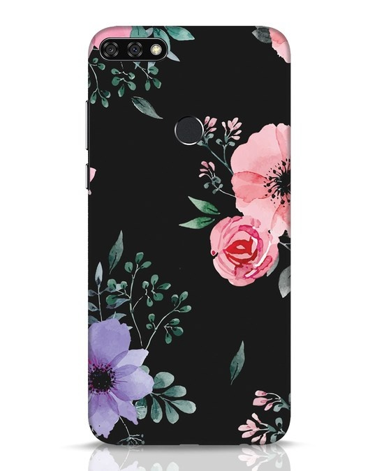 Shop Dark Florals Huawei Honor 7C Mobile Cover-Front