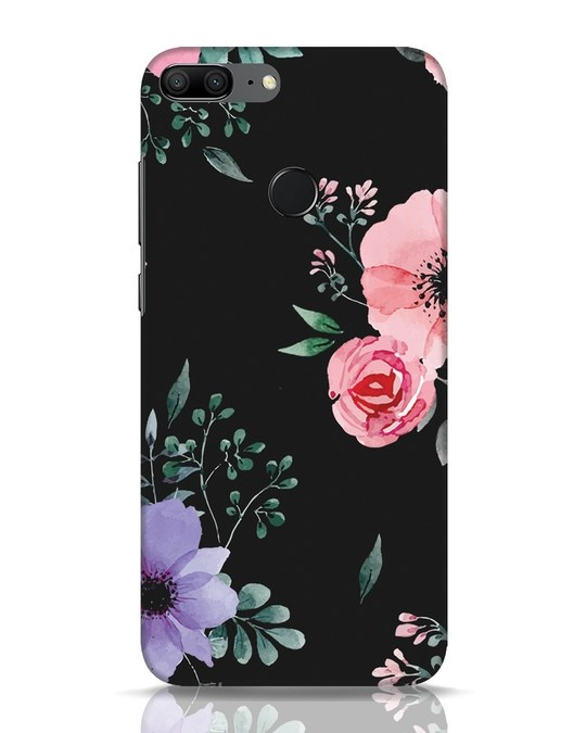 Shop Dark Florals Huawei Honor 9 Lite Mobile Cover-Front