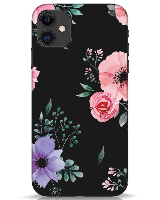 Shop Dark Florals iPhone 11 Mobile Cover-Front