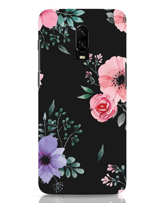 Shop Dark Florals OnePlus 6T Mobile Cover-Front
