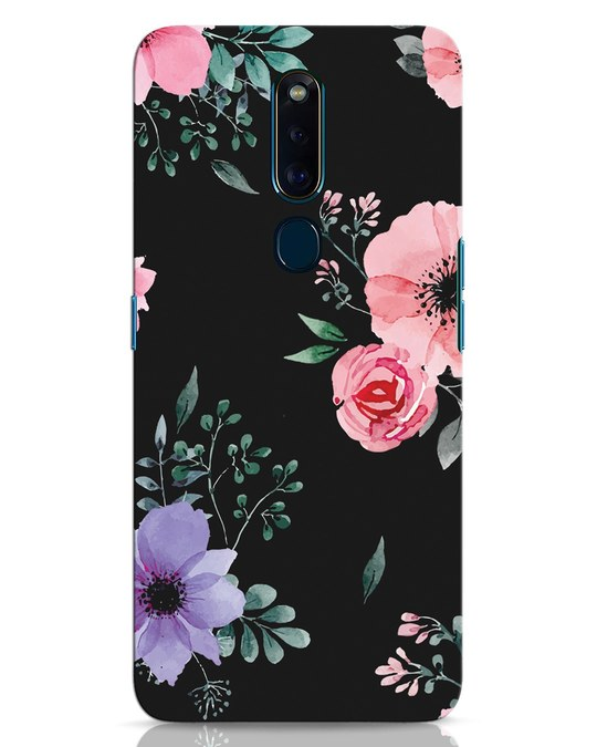 Shop Dark Florals Oppo F11 Pro Mobile Cover-Front