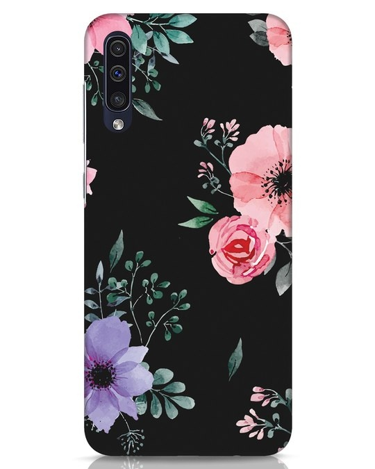 Shop Dark Florals Samsung Galaxy A50 Mobile Cover-Front