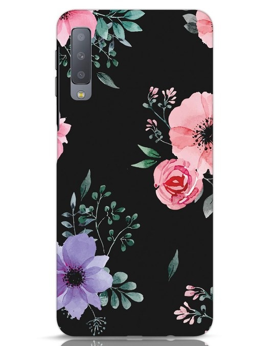 Shop Dark Florals Samsung Galaxy A7 Mobile Cover-Front