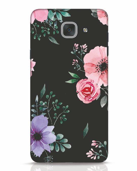 Shop Dark Florals Samsung Galaxy J7 Max Mobile Cover-Front